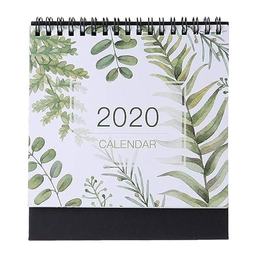 Calendarios de Escritorio 2020 Modelo Colorido del Calendario de ...