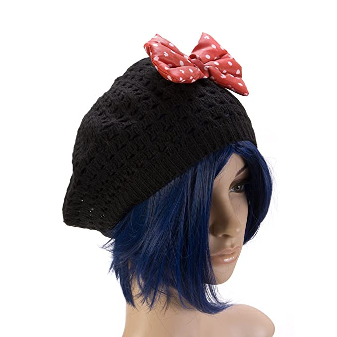 182bcca82c2f Amazon.com: Disney Big Girls' Minnie Mouse Open Knit Beret, Black ...