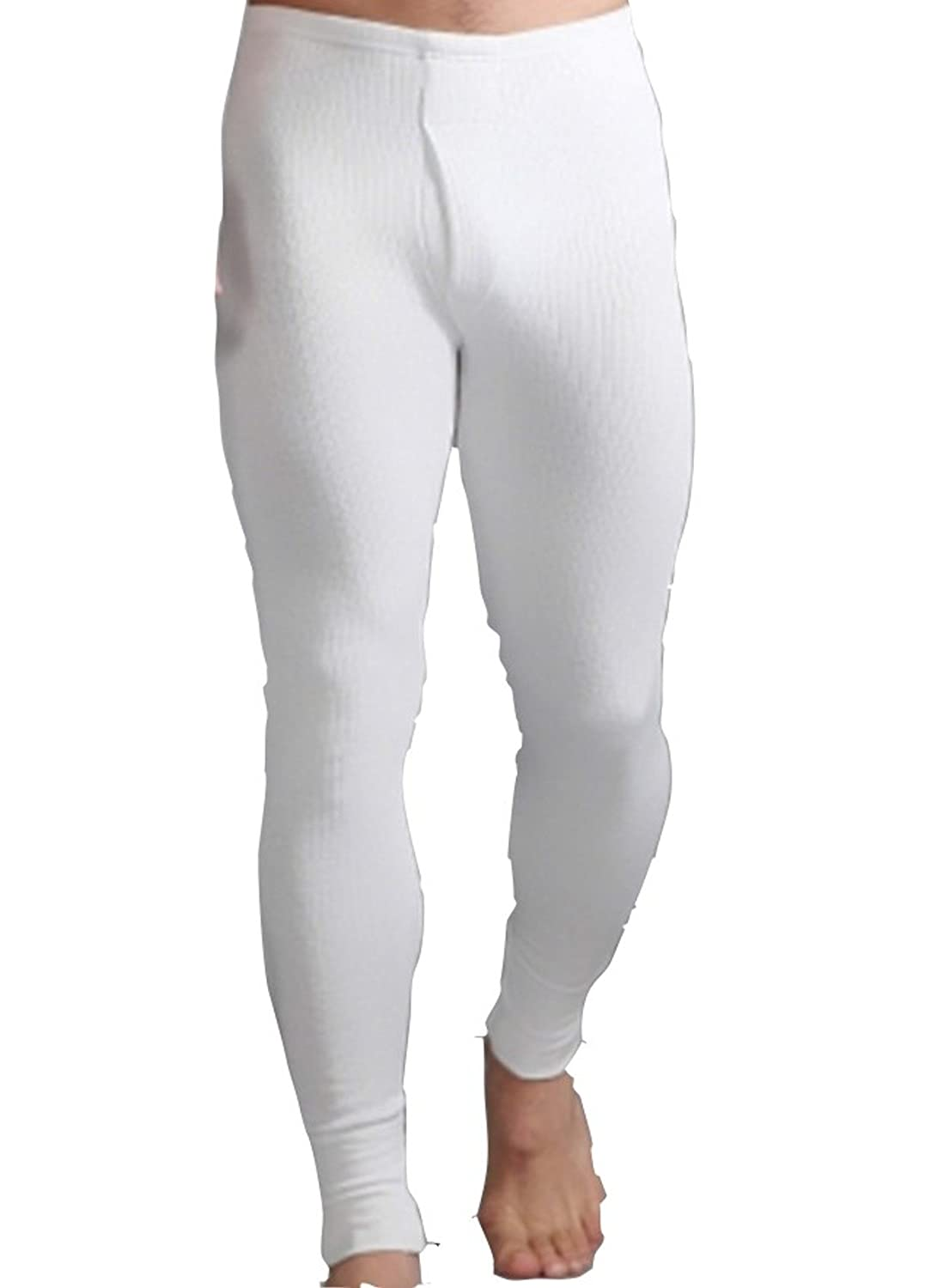 4 Pairs Men's White Thermal Long Johns Pants
