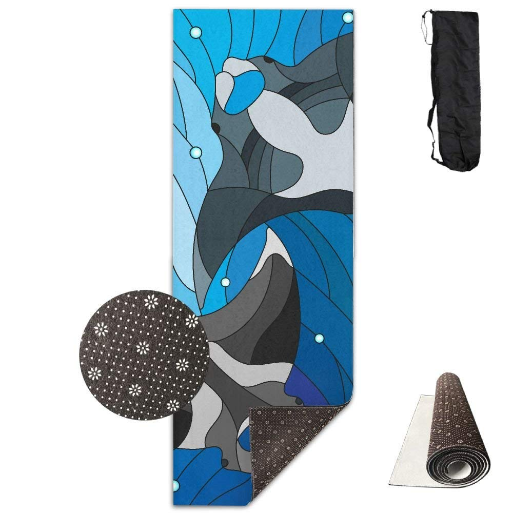 Amazon.com: Stained Glass with Two Manta Yoga Mat Towel for ...