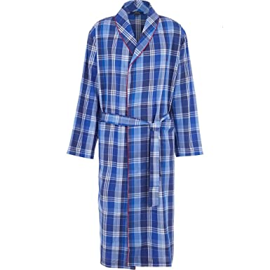Ralph Lauren Men\'s Lightweight Cotton Dressing Gown Robe Tampa Plaid ...