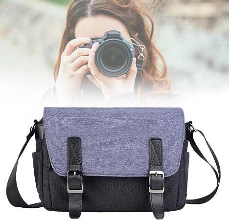 Mochila para cámara, Bolsa para cámara, Estuche portátil para Bolsa de Hombro para cámara DSLR, cámaras DSLR, cámaras sin Espejo, Lentes, Flashes y Otros(Azul): Amazon.es: Hogar