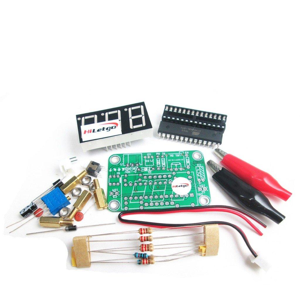 Hiletgo 2pcs Vot 8 Voltmeter Kit Voltage Meter Electronic Circuit Production Project Diy Suite Kits Module Board For Student Exercise Tools