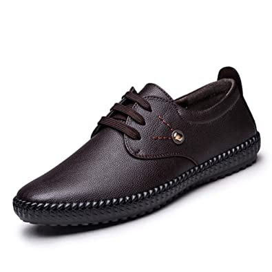 Shoes Men's Loafers & Slip-Ons Comfort Leather Spring Summer Fall Casual Office & Career Party & Evening Walking Split Joint Flat Heel