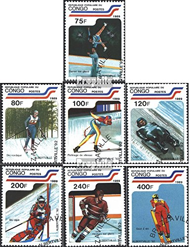 Kongo (Brazzaville) 1162-1168 (Complete.Issue.) 1989 Olympics Winter Games 1992 (Stamps for Collectors) Winter Sports