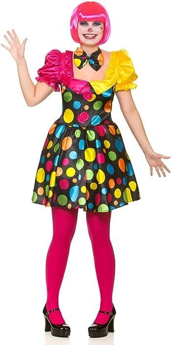 Adult Female Circus Clown Fancy Dress Costume (Women  6-8)  Amazon ... 15eb83b4d8bc