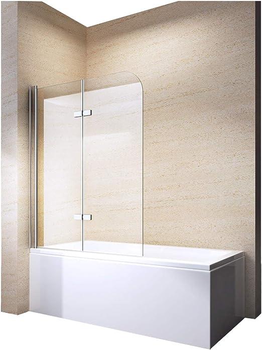 Mampara de ducha pared bañera Nano EchtGlas ex209 – 1200 x 1400 x ...