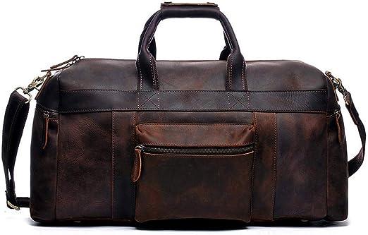 2019 nueva moda hombres mujeres bolsa de viaje bolsa de lona, bolsos de equipaje de cuero bolso deportivo de gran capacidad 54 cm