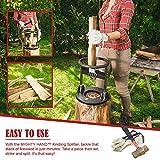 Effortless Mighty Hand Kindling Splitter - 7 lb Log Splitter with Splitting Wedge and Easy Assembly