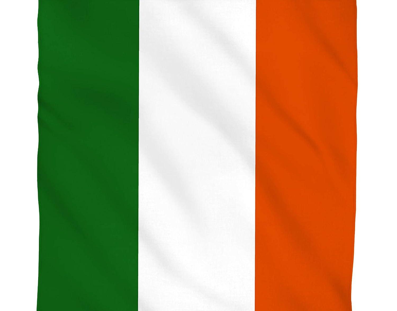 BUNFIREs ONE Ireland Flag Irish Bandana Bandanna Biker DURAG Head WRAP Scarf Large Size: 22 X 22