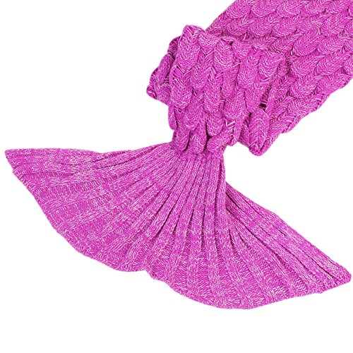 low-cost Mermaid Tail Blanket Girls Toys Handmade Knitted Living ...