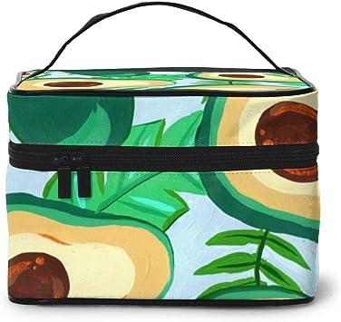 Bolsa de Maquillaje Aguacate Palmeras de Verano Hojas Estampado Maquillaje Estuche Viaje Grande Bolsa de cosméticos Bolsa de Lavado: Amazon.es: Equipaje