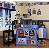 Boutique Brand New GEENNY Boy Sailor 13PCS Baby Nursery CRIB BEDDING SET