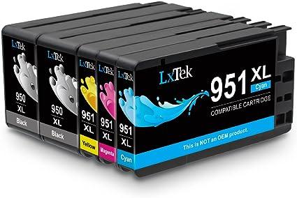 LxTek Compatible para HP 950XL 951XL 950 951 Cartuchos de tinta para HP Officejet Pro 8100 8600 8610 8620 8630 8640 8660 8615 8625 251dw 276dw (2 Negro, 1 Cian, 1 Magenta, 1 Amarillo): Amazon.es: Oficina y papelería
