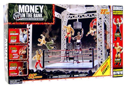 WWE Wrestling 2008 Exclusive Money in the Bank Ring with 2 A
