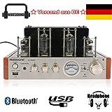 nobsound MS de 10D MKII Tube amplificateur de puissance stéréo Bluetooth/USB/Headphone Amp Bass & Treble Récepteur HiFi Amplificateur audio amplificateur à tubes for TV/ordinateur/Walkman/ordinateur portable/tablette PC/Mobile Phone/CD/DVD/mp3/Lecteur de musique