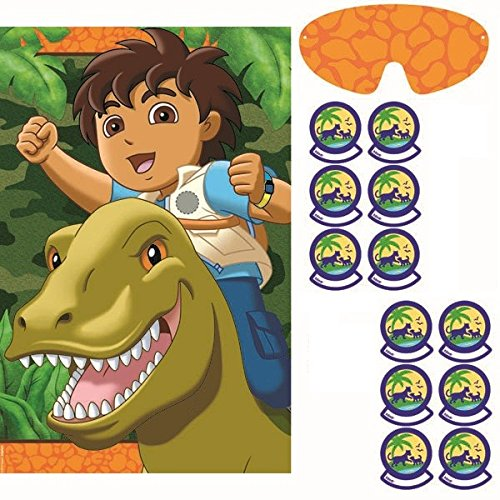Go Diego Go Rescue Pack - Amscan Entertaining Diego's Biggest Rescue Party Game, Multi