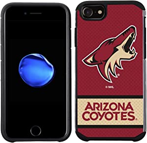 Apple iPhone 8/ iPhone 7/ iPhone 6S/ iPhone 6 - NHL Licensed Arizona Coyotes Red Jersey Textured Back Cover on Black TPU Skin