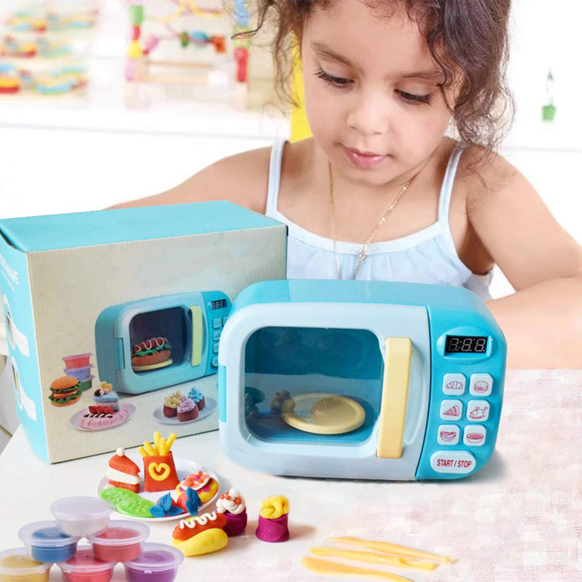 Kids Children Pretend Play Kitchen Appliances Microwave Pretend Play Set And Food Clay Toy Set 1 Microwave Oven 6 Dry Clay Buy Online In Japan At Desertcart Jp Productid 192207974