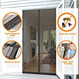 Magnetic Screen Door, GEEKHOM Mesh Curtain, Full Frame Velcro Bug Screen KEEP BUGS OUT Lets Fresh Air In 35' X 82'