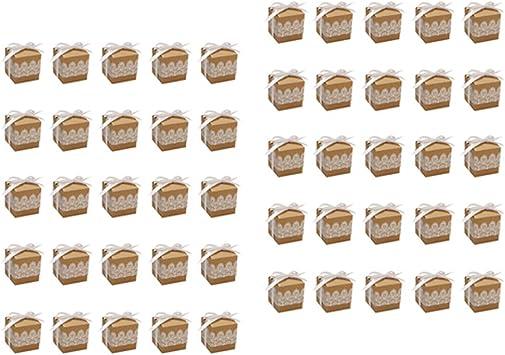 50pcs Papel Kraft Caja de Regalo con Cordones para Fiesta de Lunares y Celebraciones Navideñas (2x2x2 Pulgadas): Amazon.es: Bricolaje y herramientas