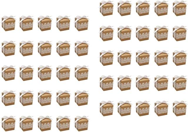 Dailymall - Lote de 50 Cajas de Regalo, Caja de Almacenamiento, Caja de Regalo Creativa, para San Valentín, cumpleaños, Navidad, para Pasteles, Joyas, Caramelos (5 x 5 cm): Amazon.es: Hogar