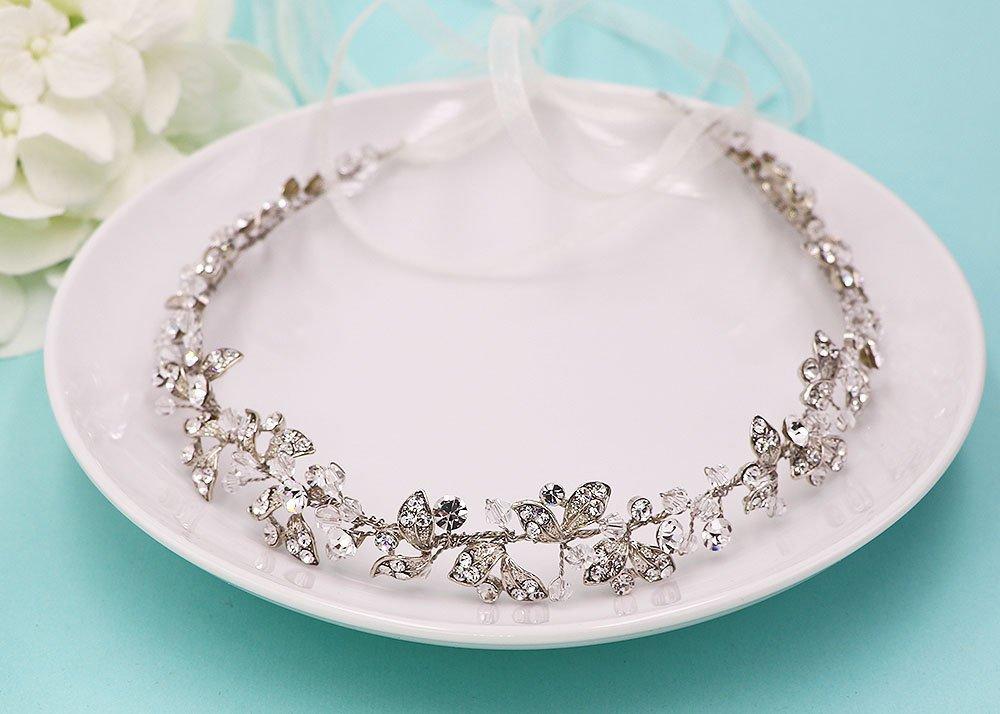 Crystal Bridal Hair Vine Wedding Headpiece