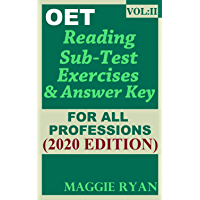 OET Reading (5 sets) For All-Professions by Maggie Ryan: Updated OET Preparation Book: VOL. 2, 2020 Edition (OET Reading Books by Maggie Ryan)