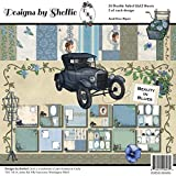 "Designs By Shellie Cardstock 12""X12"" 24/Pkg-Beauty In Blues, 12 Designs/2 Each"
