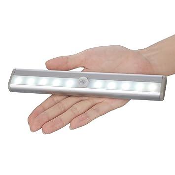 Wardrobe Sensor Night Lights Stick On Portable 10 Led Wireless Motion  Sensing Closet Cabinet