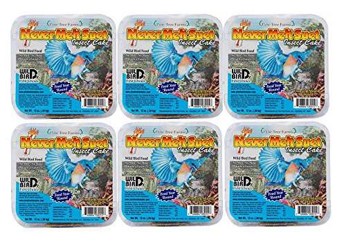 Pine Tree Farms 6 Cakes Insect Never Melt Suet Cake 12 oz. each