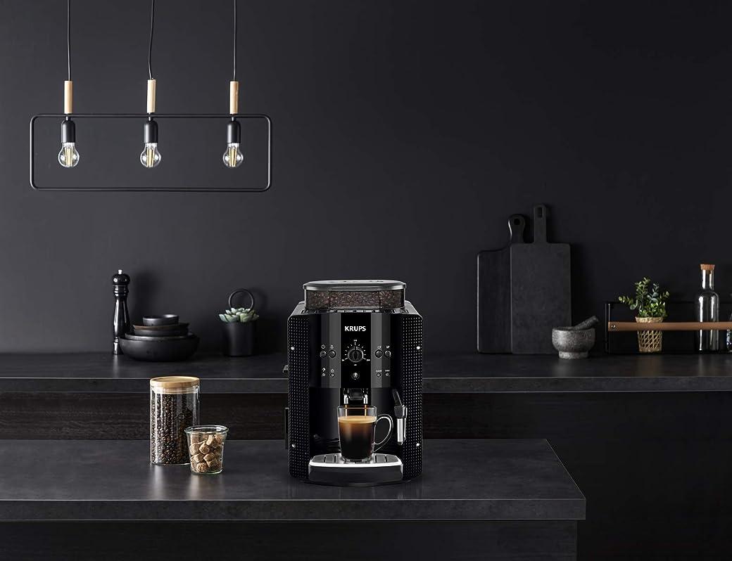 Krups EA8108 Roma - Cafetera Superautomática, molinillo de café cónico de metal
