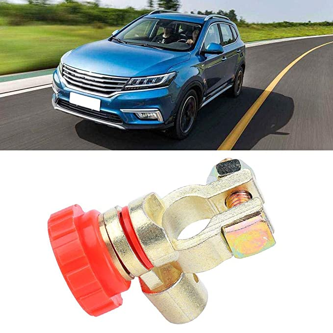 Suuonee Battery Power Off Switch Universal Car Battery Power Off Switch Link Terminal Quick Cut-off Master Disconnect Isolator