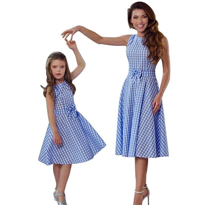 günstige Preise Super günstig eine große Auswahl an Modellen LUCKDE_Partnerlook Hemdkleid Damen Kariert, Mutter Tochter ...