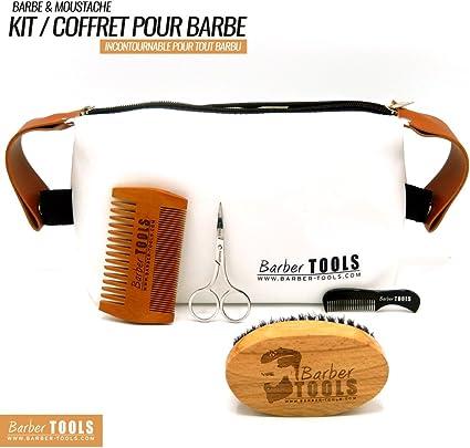 ✮ BARBER TOOLS ✮ Kit / Set / Estuche de arreglo y cuidado de la barba. Peine para