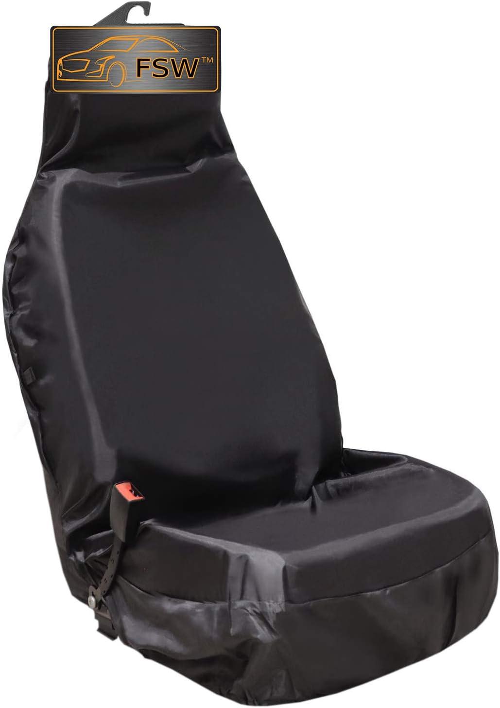 V8 FSW HD1+1 Black Heavy Duty Waterproof Car Black Seat Covers 1+1 Black HD1+1BLACK36 Fits: Cerberra Griffith Typhoon Tamara T400 T350 T440 Chimaera Sagaris Tuscan
