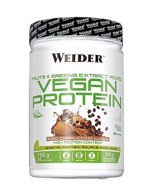 Weider Vegan Protein Sabor Ice Cappuccino - 750 gr: Amazon.es: Salud y cuidado personal