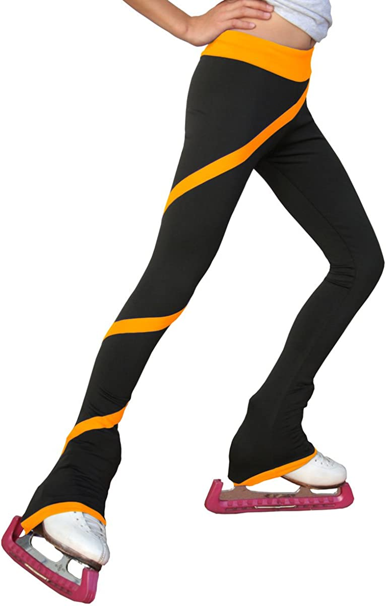 ChloeNoel Figure Skating Spiral Pants P06: Clothing