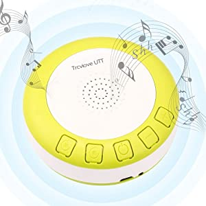 Sound Machine Baby for Sleeping Portable Sound Machine with Timer and Volume Control Shusher SoundMachine Home Office Travel(Yellow)