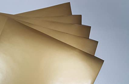 amazon com gold metallic glossy 5 pack of adhesive vinyl sheets