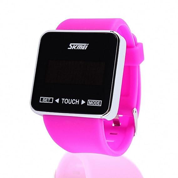 Skmei unisex correa de goma reloj digital para niña sintética pantalla táctil LED luz nocturna impermeable + Caja: SKMEI: Amazon.es: Relojes