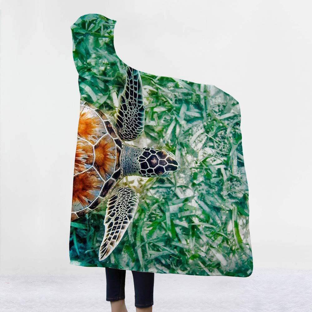 150 cm Coperta con cappuccio modello serie tartaruga marina coperta con cappuccio cappello coperta coperta domestica coperta capote coperta coperta di pelo coperta 130
