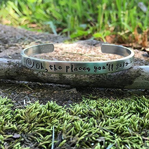 Oh, the places you'll go - graduation bracelet | class of 2017 | dr. Seuss inspired | secret santa gift | gift for teens | Christmas gift - Teacher Pinterest Gift Ideas Christmas