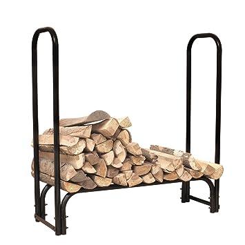 hio large heavy duty outdoor firewood racks 4foot steel wood storage log rack holder - Firewood Racks