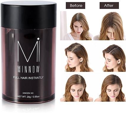 Fibras de pelo, Fibras Capilares a la línea profesional para hombres y mujeres (castaño): Amazon.es: Belleza