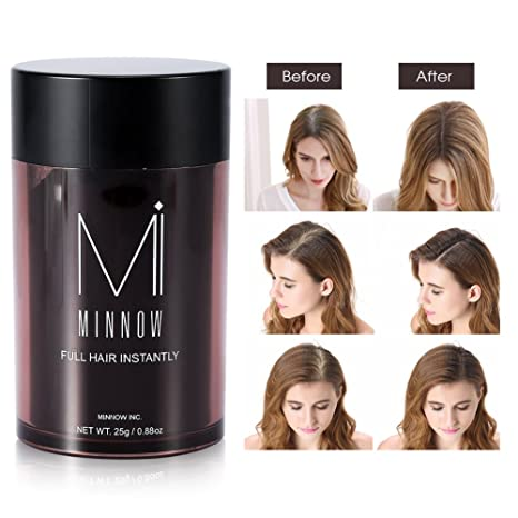 Amazon.com: Hair Fiber Powder, Women Men Baldness Concealer Thickening Hair Building Fibers Powder(Black): Beauty