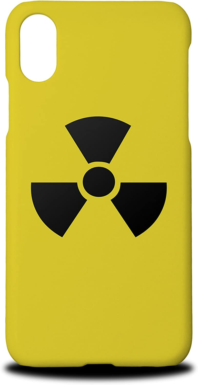 Foxercases Design (2020) #1 Radioactive Radiation Sign Hard Phone Case Cover for Apple iPhone X