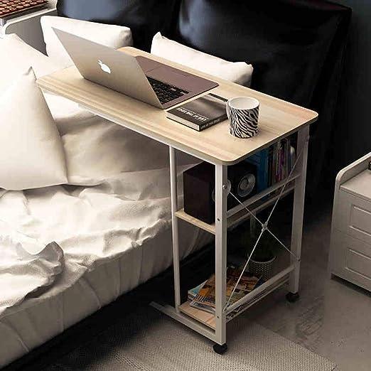 WGG Mesa con ruedas, bandeja de altura ajustable lateral para cama ...