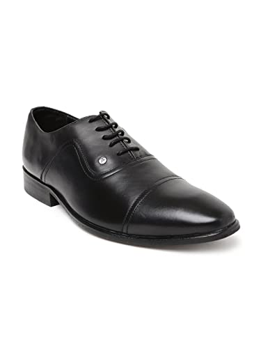 612065740e3 Van Heusen Men Black Leather Oxford Formal Shoes (9UK)  Buy Online ...