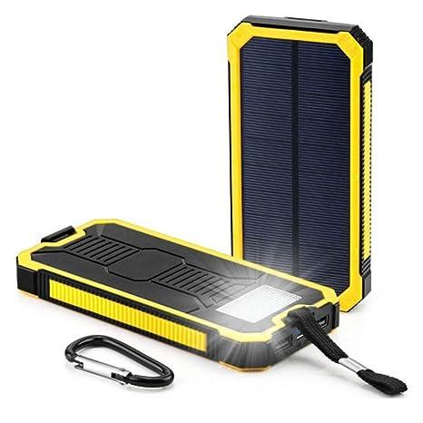 samlike LED dual usb Ports panel solar power bank Caso ...